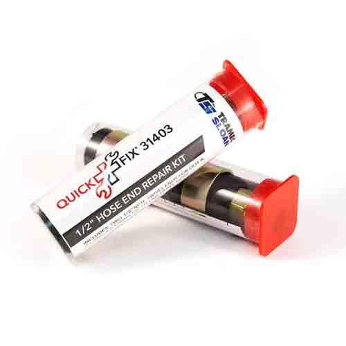 Tramec 31403 1//2 NPTF Air Brake Hose End Fitting Kit for 3//8 Hose